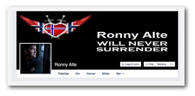 Slik presenterer Ronny Alte seg på Facebook.