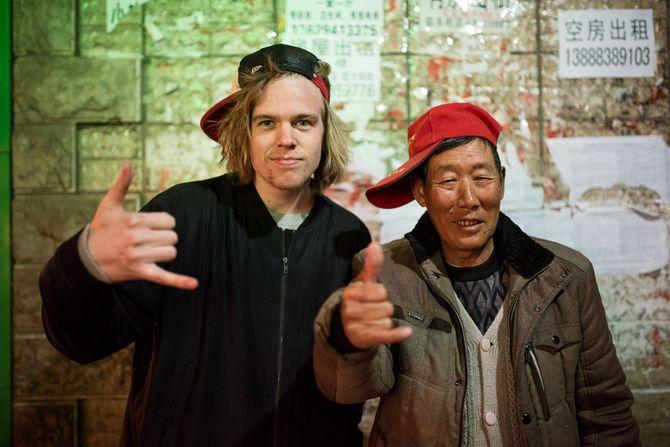 Fotostudent Bård Bøei møte med en «vanlig» kineser. (Foto: Skjalg Bøhmer Vold)