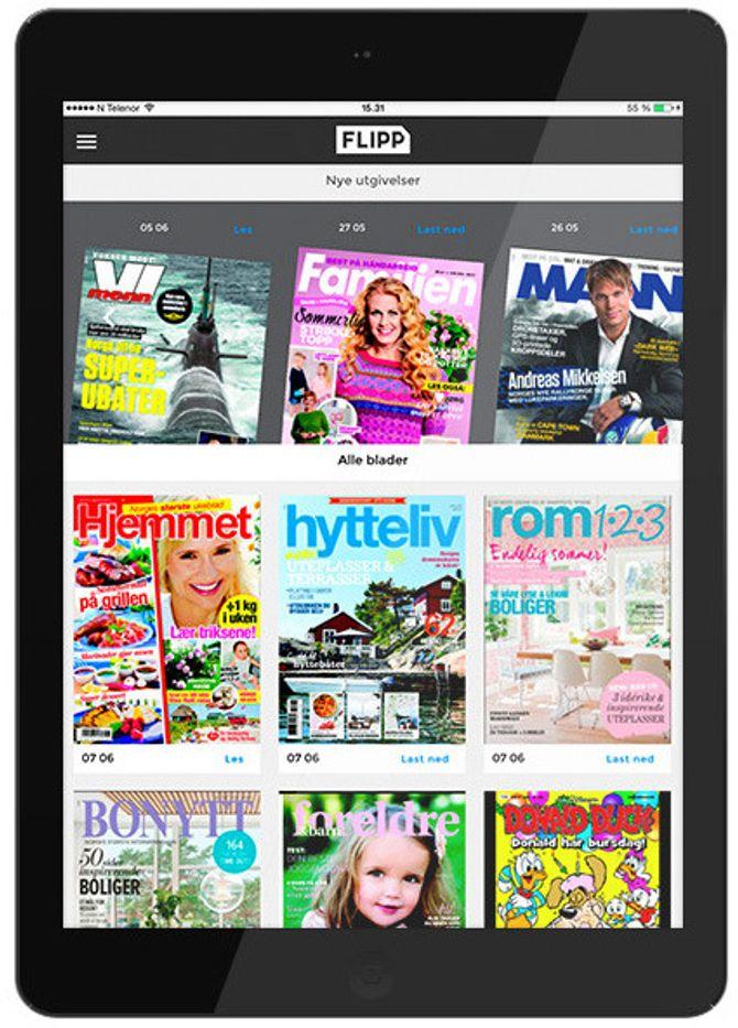 FLIPP - Egmonts nye magasin-strømmetjeneste.