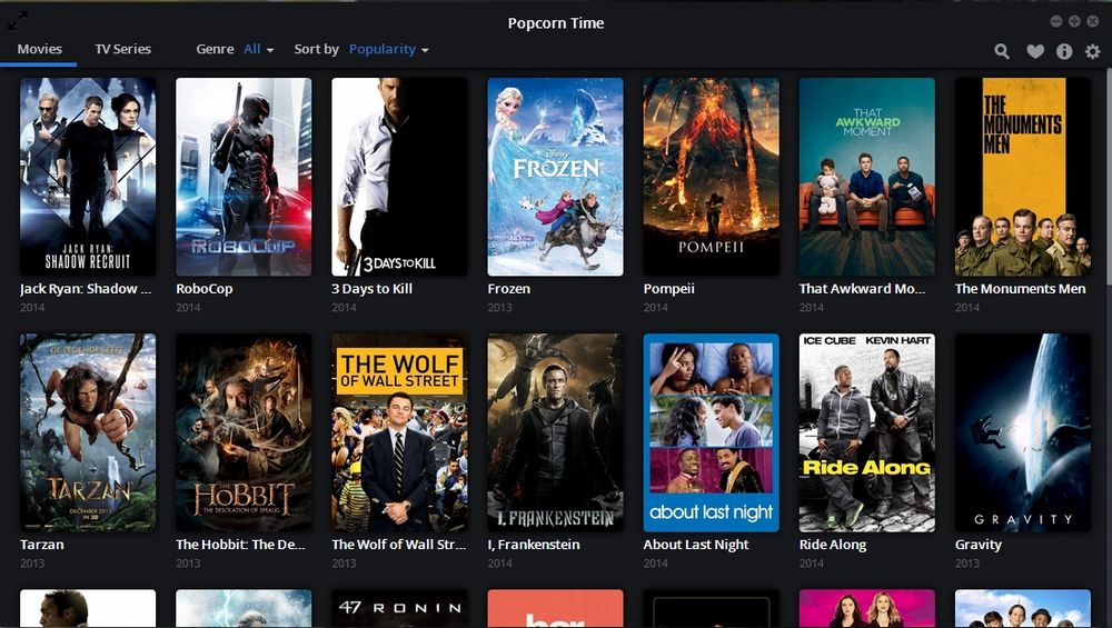 (Screenshot av Popcorn Time).