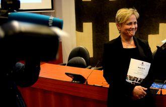 Kulturminister Thorhild Widvey - her på en pressekonferanse i juni 2015.