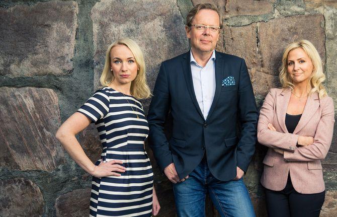 TV 2s valgsendinger 21.20 vil ledes av Cathrine Fossum, Arill Riise og Linn Wiik. (Foto: Espen Solli, TV 2)