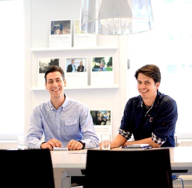 Lukas Loeb og kollega Eivind Hammer Myhre.