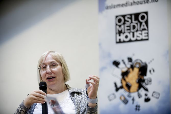 SOPHIE WILSON på Oslo Media Meeting. (ALLE FOTO: Gorm K. Gaare)