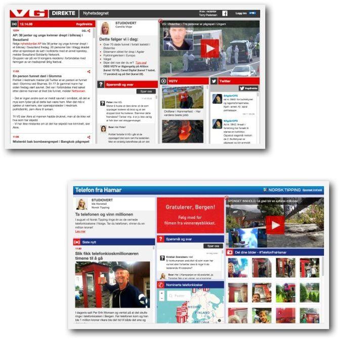 FOR LIKT? En av disse er reklame, den andre er journalistikk - og likheten ble problematisert av Jens Barland.