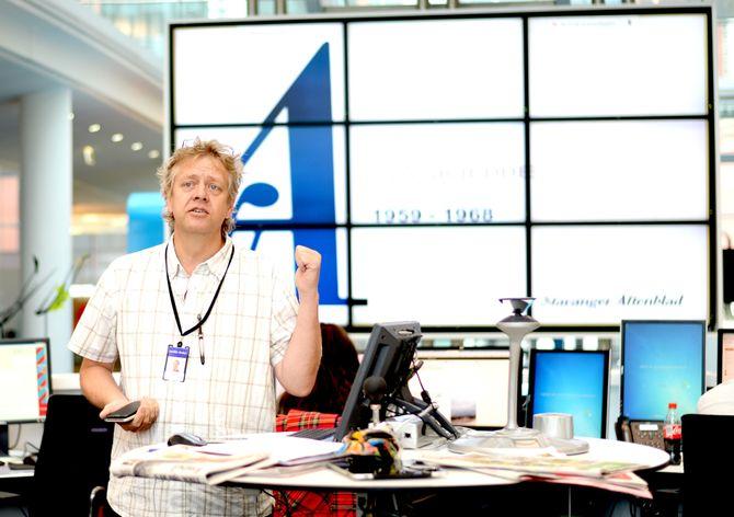 TARALD AANO leder fredagsquizen i Stavanger Aftenblad.