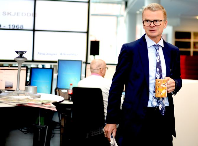 Sjefredaktør Lars Helle i Stavanger Aftenblad.