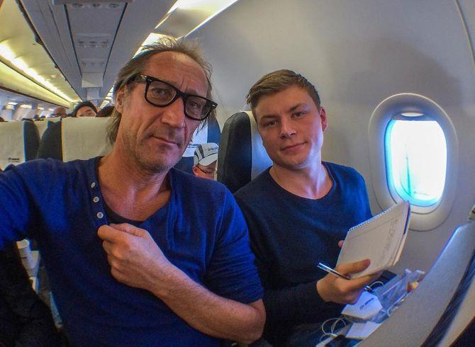Yngve Olsen Sæbbe og Jostein Larsen Østring på vei til Hellas. (Foto: Nordlys)