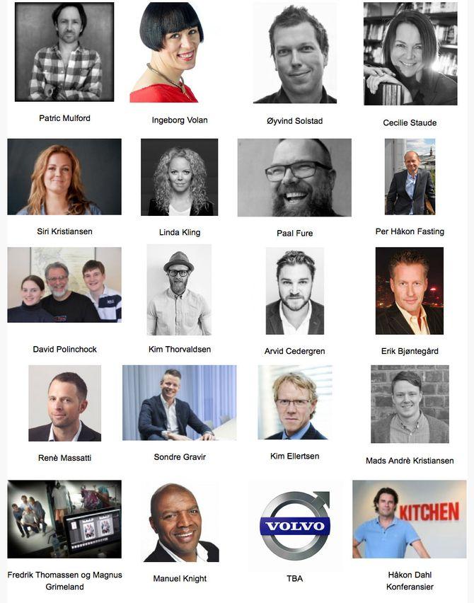 DISSE KOMMER på Mediekonferansen 2015.