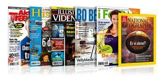 Noen av Bonniers norske magasiner.