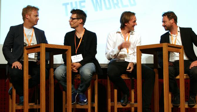 CXENSE EXPERIENCE: I juni inviterte Cxense til sin første konferanse i Oslo, med blant annet følgende deltakere i diskusjonen: Pål Nisja-Wilhelmsen, Jo Christian Oterhals, Jan Thoresen og Kasper Haugaard.