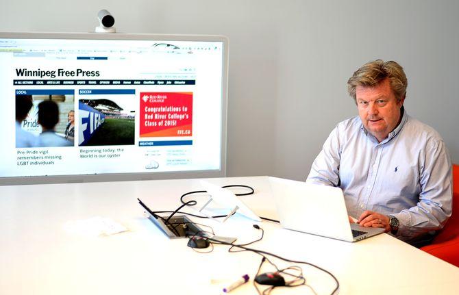 Mikal Rohde forklarer hvordan Cxense-teknologien fungerer på Winnipegs nettavis.