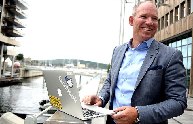 RUNE PAULSETH, Country Manager for Facebook i Norge, åpner nytt kontor i dag. (Arkivfoto: Gard L. Michalsen)