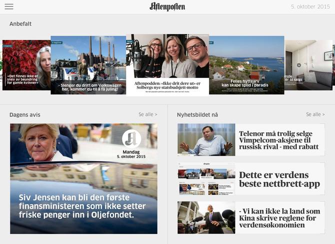 BEST I VERDEN: Aftenposten+.