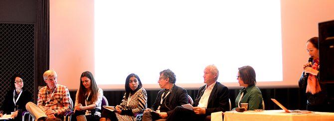 Panelsamtale om journalisters sikkerhet på Lillehammer torsdag.
