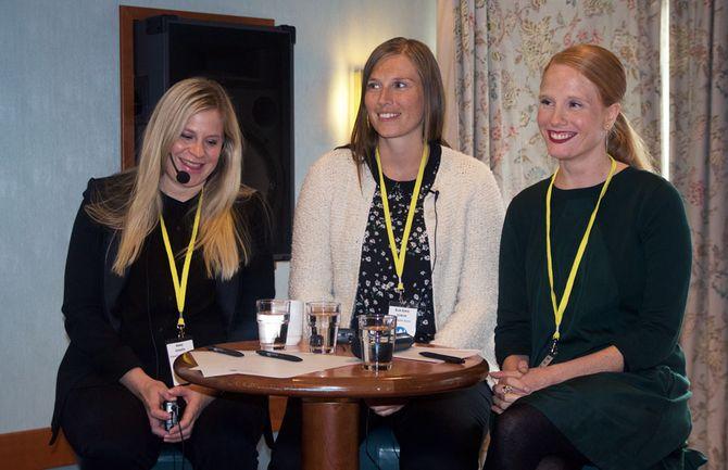 Teknisk utviklingssjef Anna Jonzén i Egmont, digitalredaktør Elin Sofie Lorvik i Trønder-Avisa og redaktør Susanne Kaluza i Kvinneguiden - var de nominerte til prisen Årets talent i regi av Medienettverket for et år siden.