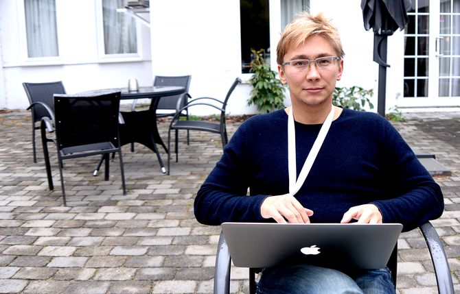 Aleksander Serebryanikov fra Murmansk - bedre kjent som Blogger51 - på Lillehammer i helga.