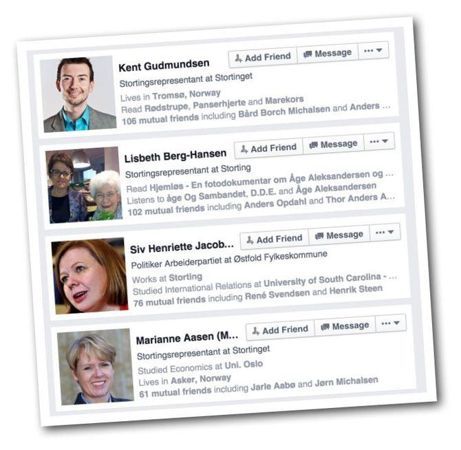 NOEN AV DEM som ifølge Facebooks Graphs-søk jobber på Stortinget.