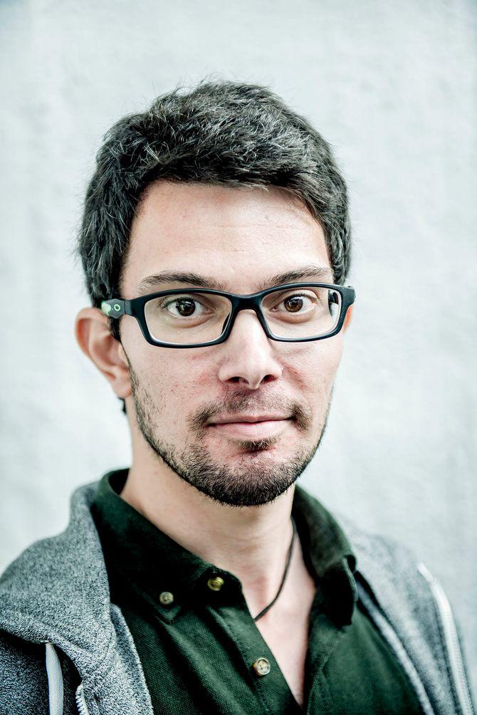 Syriske Elijah Salim vil skrive og bidra til Oslo Business Memo. (Foto: Gorm K. Gaare)