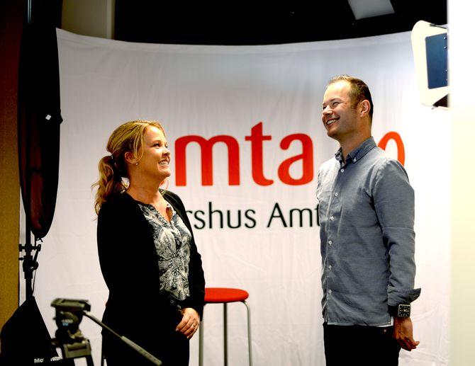 Amta har bygd TV-studio i første etasje av avishuset.