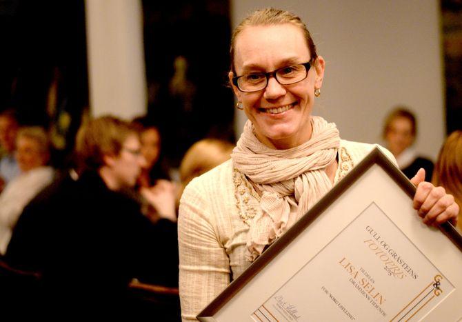 LISA SELIN fikk Gull & Gråsteins fotopris lørdag kveld.