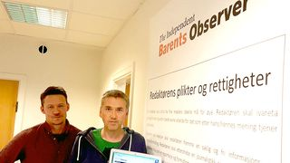 ATLE STAALESEN og THOMAS NILSEN er i gang med The Independent Barents Observer.