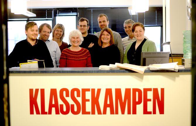 Direktøren og noen av kollegene: Fredrik Vindheim Sand, Christian Samuelsen, Tove Berg Andersen, Marga van der Wal, Knut-Egil Knutsen, Kenneth Bjørkhaug, Yvonne Lund, Dag Rune Dahl og Liisa-Ravna Finbog.