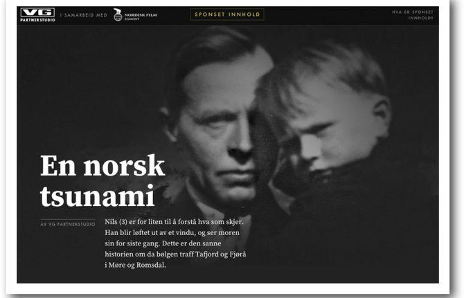 (Faksimile fra VGs reklame for Nordisk Film og storfilmen Bølgen)