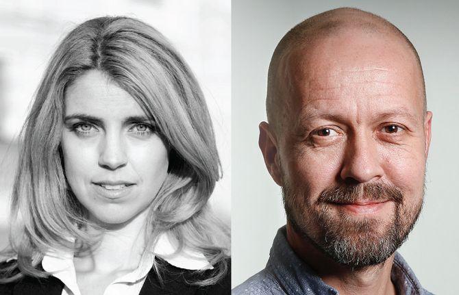 Nyhetsdirektør Alexandra Beverfjord - og Per Arne Kalbakk, nå etikkredaktør.