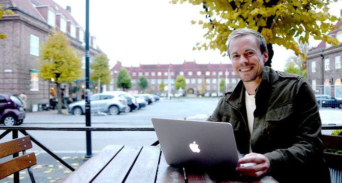 Karl Andreas Kjelstrup, redaktør og daglig ieder i Nordre Aker Budstikke. (Foto: Gard L. Michalsen)