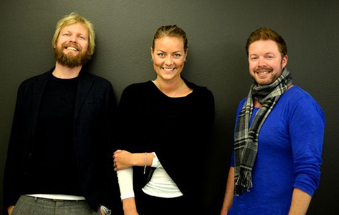 FILTER MEDIA: Lars Eide er medeier og daglig leder i FIlter Media Norge AS, Martine Nicoline Borge ersalgs- og markedsansvarlig, med Even Aas-Eng som medeier og styreleder. (Arkivfoto: Gard L. Michalsen)