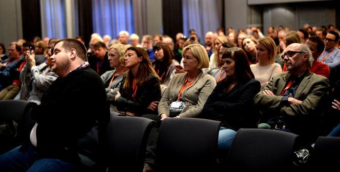 Nordnorske journalister på Svarte Natta-konferansen.