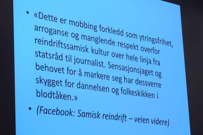 Noen av reaksjonene NRK Sápmi og Eilif Aslaksen fikk - dette av den mildere sorten.