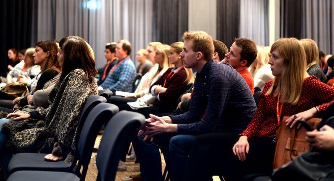 Nordnorske mediefolk på Svarte Natta-konferansen i helga.