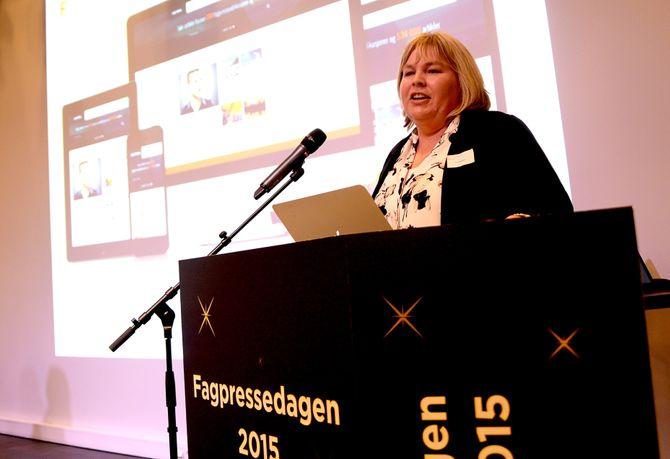 ELIN FLOBERGHAGEN, direktør i Fagpressen, representerer en rekke medier som nå har nullmoms på papir - og full moms på nett.