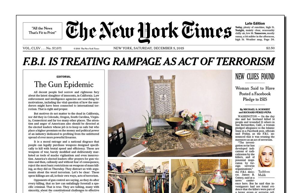(New York Times lørdag).