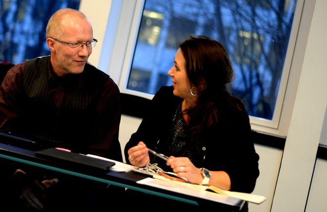 ARNE JENSEN og REIDUN KJELLING NYBØ, Norsk Redaktørforening. (Arkivfoto: Gard L. Michalsen)