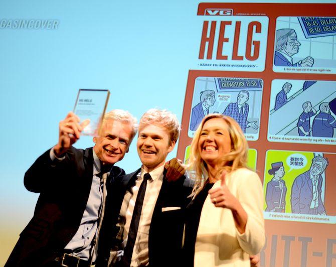 PRISBELØNT: VG Helg-redaksjonen fikk nok en pris for beste avismagasin under MBLs Mediepriser i Bergen våren 2015.