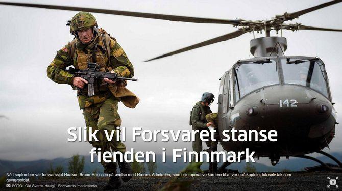 (Foto: Forsvaret / faksimile Aftenposten)