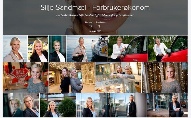Trenger du et bilde av forbrukerøkonom Silje Sandmæl i DNB, har du nok å velge i.