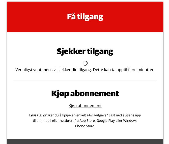 Slik har norske nettlesere blitt vant til å møte sine lokalaviser det siste året - uten mulighet for å kjøpe enkeltsaker.