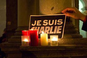 En minnemarkering etter terrorangrepet mot Charlie Hebdo i 2015.