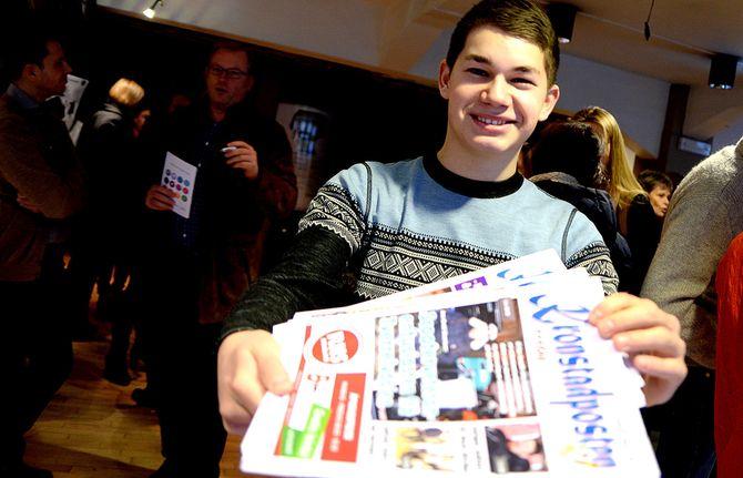 TOM ERIK NILSEN, 17 år gammel og redaktør av lokalavisa Kronstadposten i Alta. (Arkivfoto: Gard L. Michalsen)