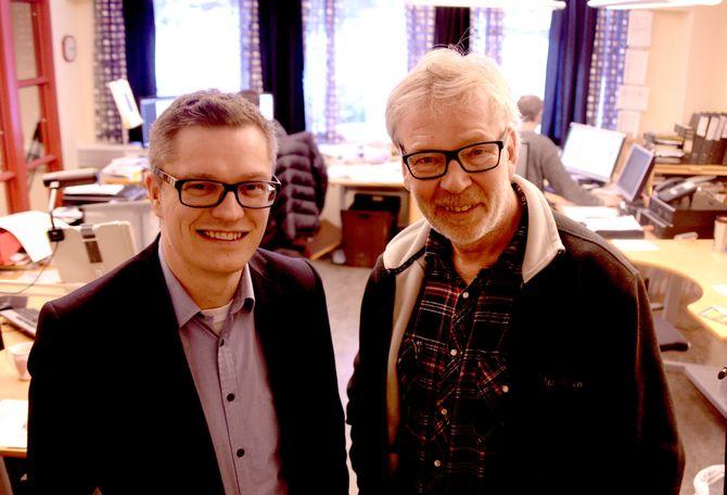 LEDERDUOEN: Direktør Christian Senning Andersen og redaktør Bjarne Tormodsgard.
