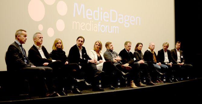 AMEDIAS konsernsjef var panelets mest offensive under Mediedagen torsdag denne uka (21. januar).