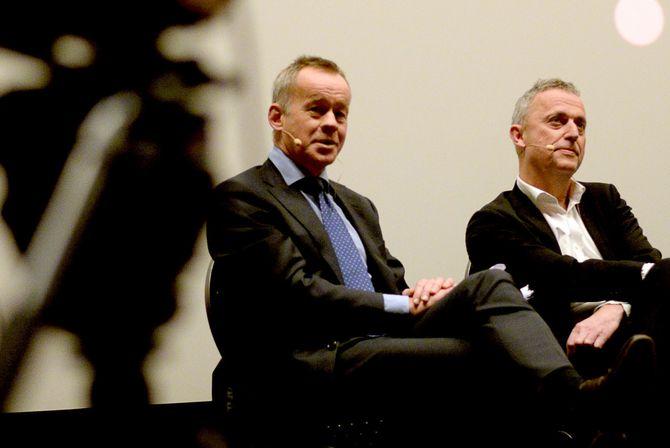 NORSK JOURNALISTLAG, her vednestleder Hege Iren Frantzen og leder Thomas Spence.