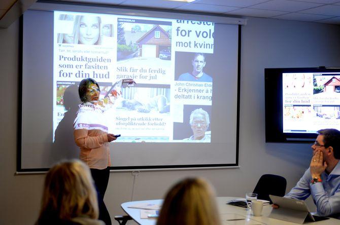 Nergård viser til eksempler på innholdsmarkedsføring i norske medier.