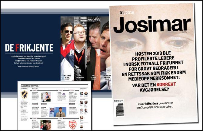 JOSIMAR viet i vår hele magasinet tilen omfattende historie rundt den såkalte Gunnarsson-saken. (Faksimile: Josimar)