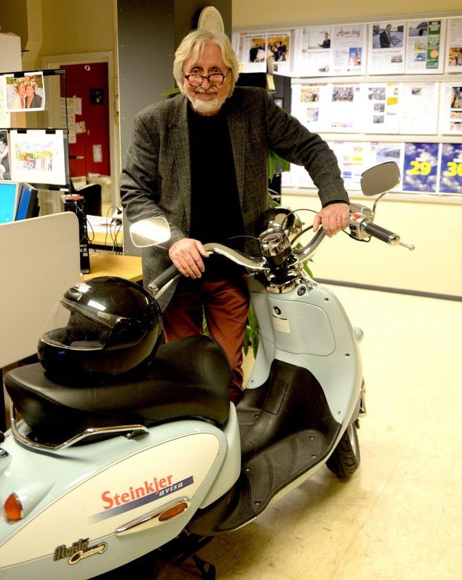En av få norske aviser med egen scooter?