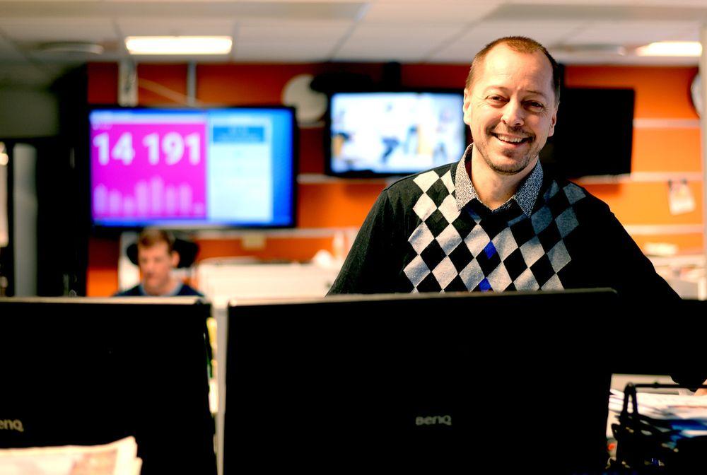 René Svendsen, ansvarlig redaktør i Fredriksstad Blad, er en av dem som opplever abonnementsvekst for tida. (Arkivfoto)